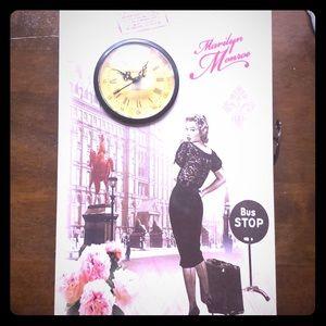 Marilyn Monroe clock andjewelry box stand or hang